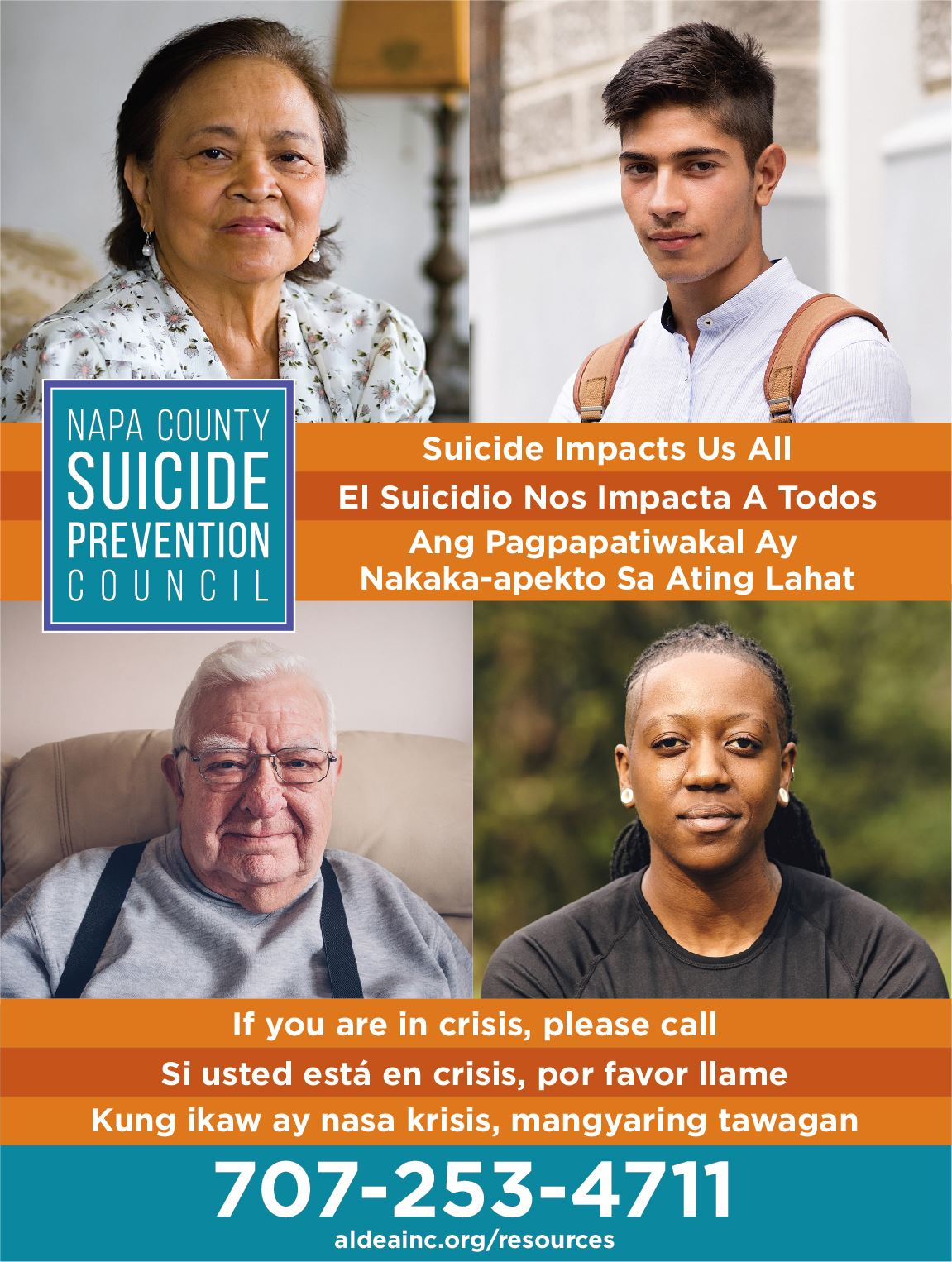 Napa County Suicide Prevention poster