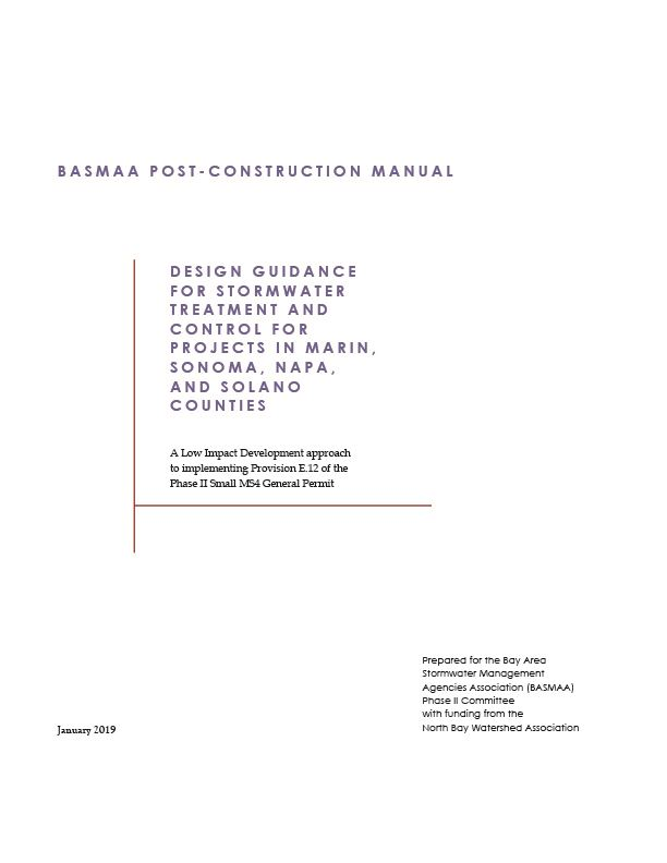BASMAA Post-Construction Manual Cover Page